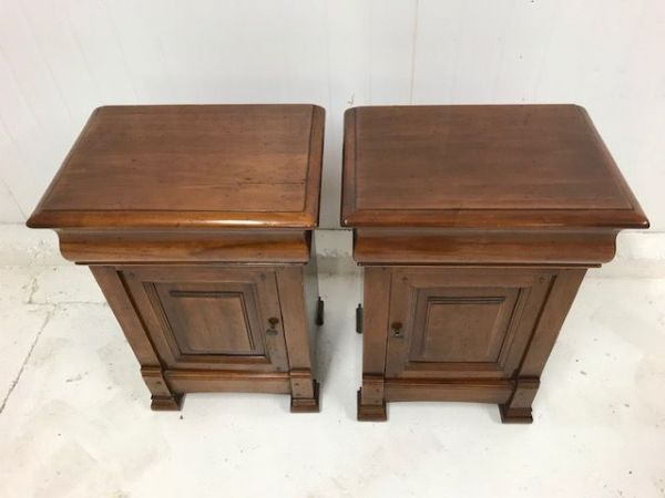 SOLD - French Bedside Cabinets - f12